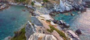 Mare Spiaggia Chiesa di Agios Ioannis Skopelos Isole Sporadi