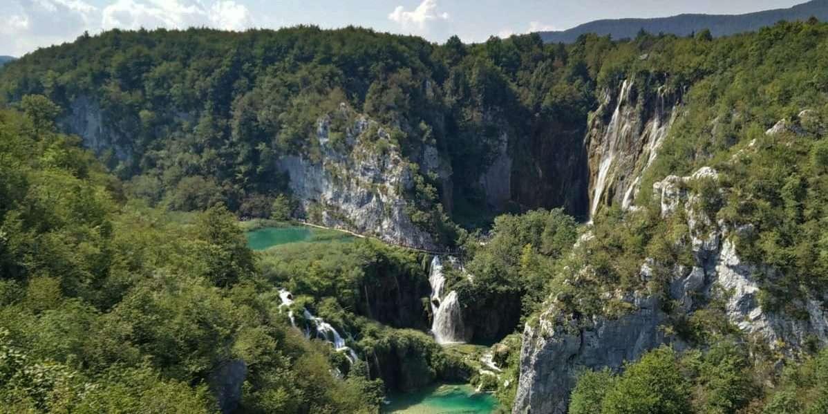 Laghi di Plitvice cascata Zagabria