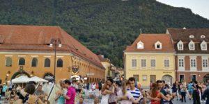 Balcani on the road Piazza Sibiu Romania